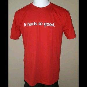 HBO TRUE BLOOD HURTS SO GOOD RED GRAPHIC TEE SHIRT